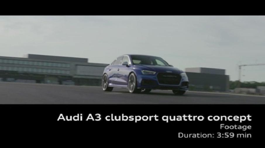 Der Audi A3 clubsport quattro concept - Footage