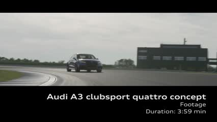 The Audi A3 clubsport quattro concept - Footage