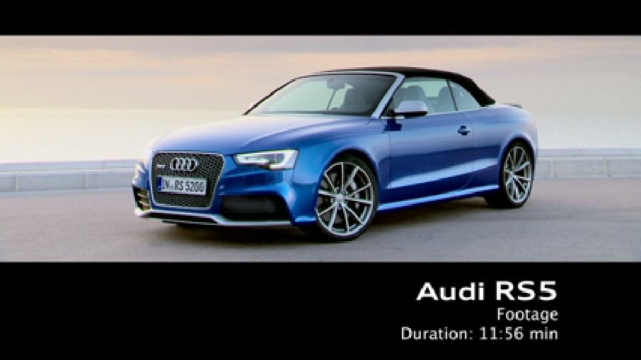 Das Audi Audi RS 5 Cabriolet - Footage