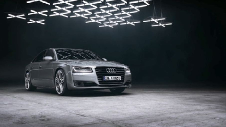 Der Audi A8 mit Matrix LED-Scheinwerfern
