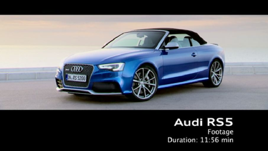 The Audi RS 5 Cabriolet - Footage