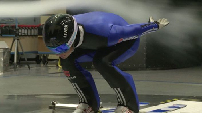 DSV-Athleten trainieren im Audi Windkanal