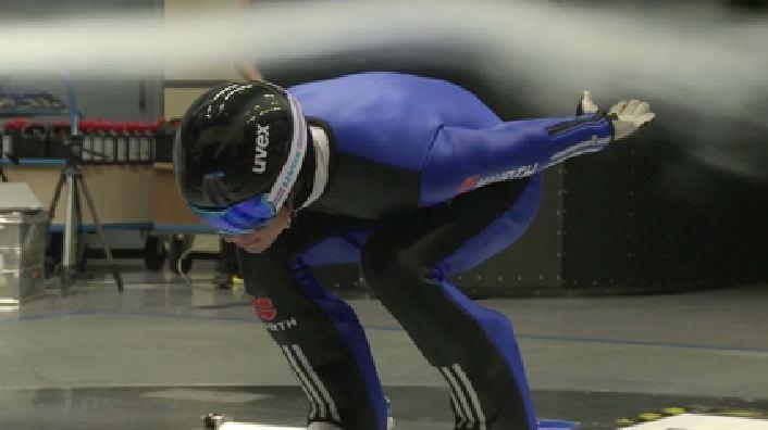 DSV-athletes train at Audi wind tunnel