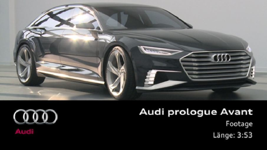 Audi prologue Avant - Footage