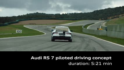 The Audi RS 7 piloted driving concept car on the race track