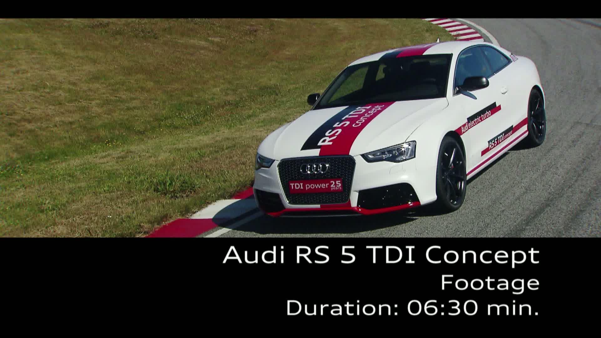 Der Audi RS 5 TDI Concept - Footage