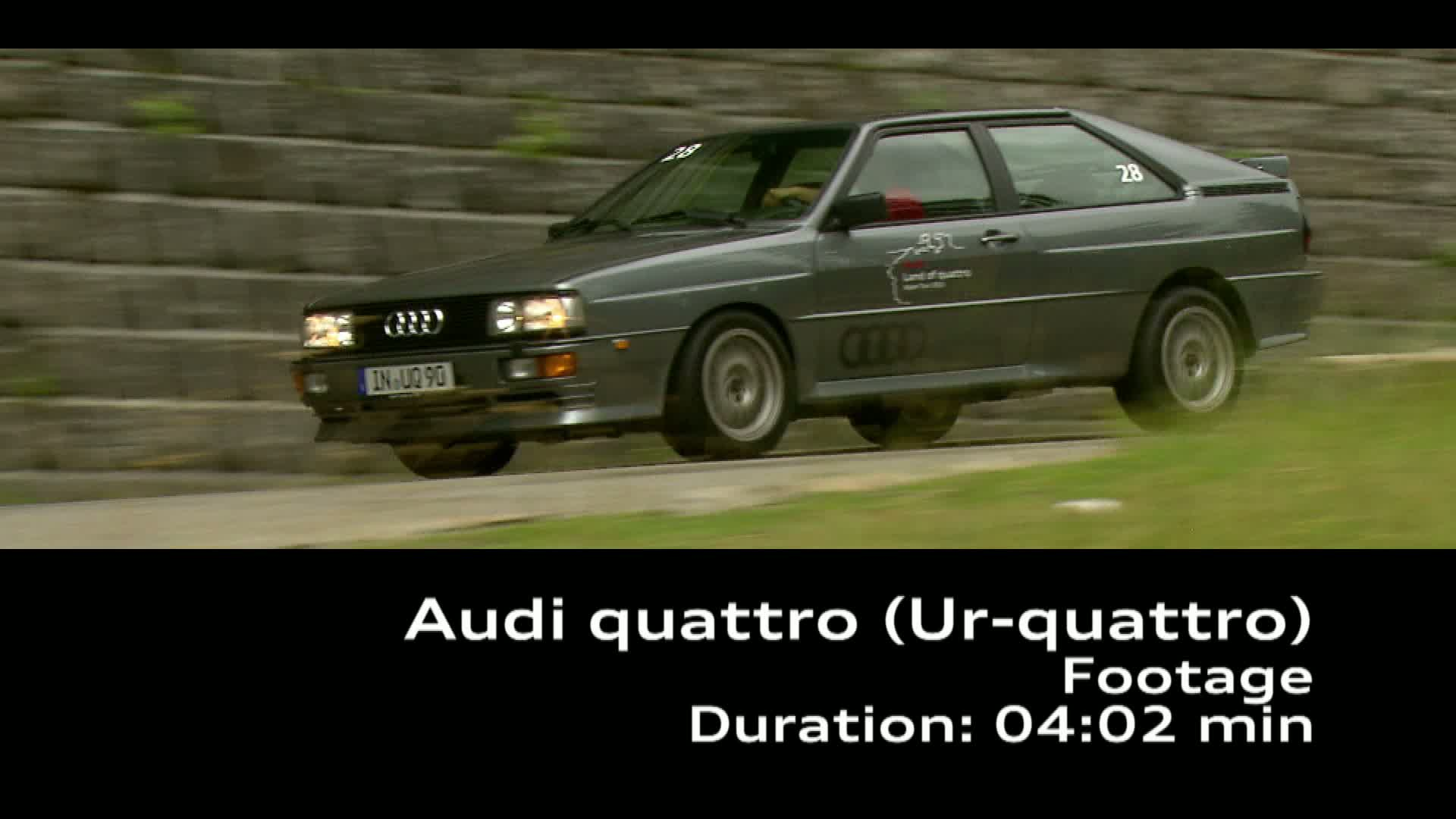 The Audi quattro (Ur-quattro) - Footage