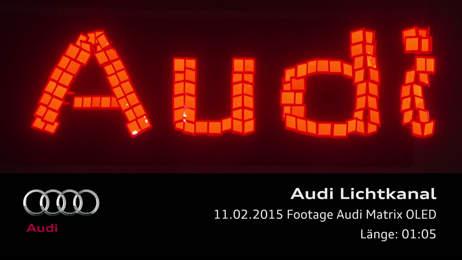 Audi future lab - Footage Audi Matrix OLED