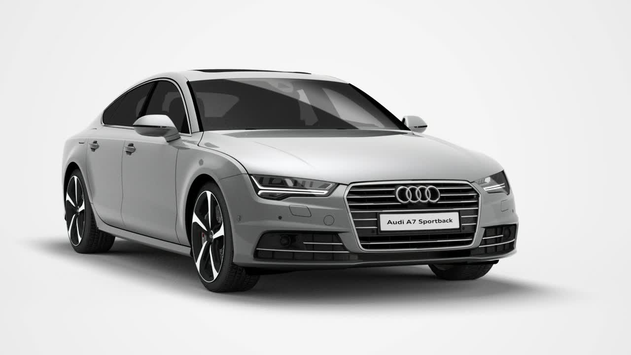 The Audi A7 Sportback - Animation with new seven-speed S tronic