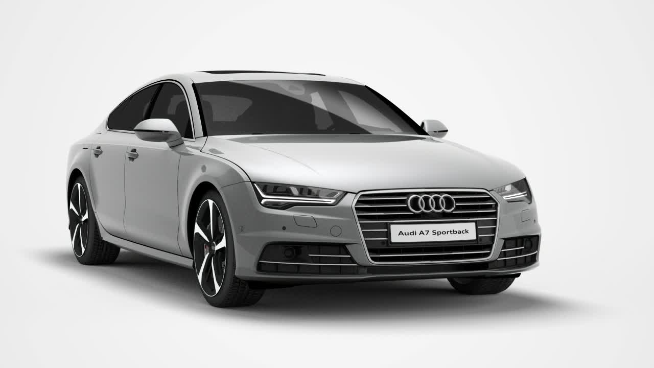 Der Audi A7 Sportback - Animation mit neuer Siebengang S tronic
