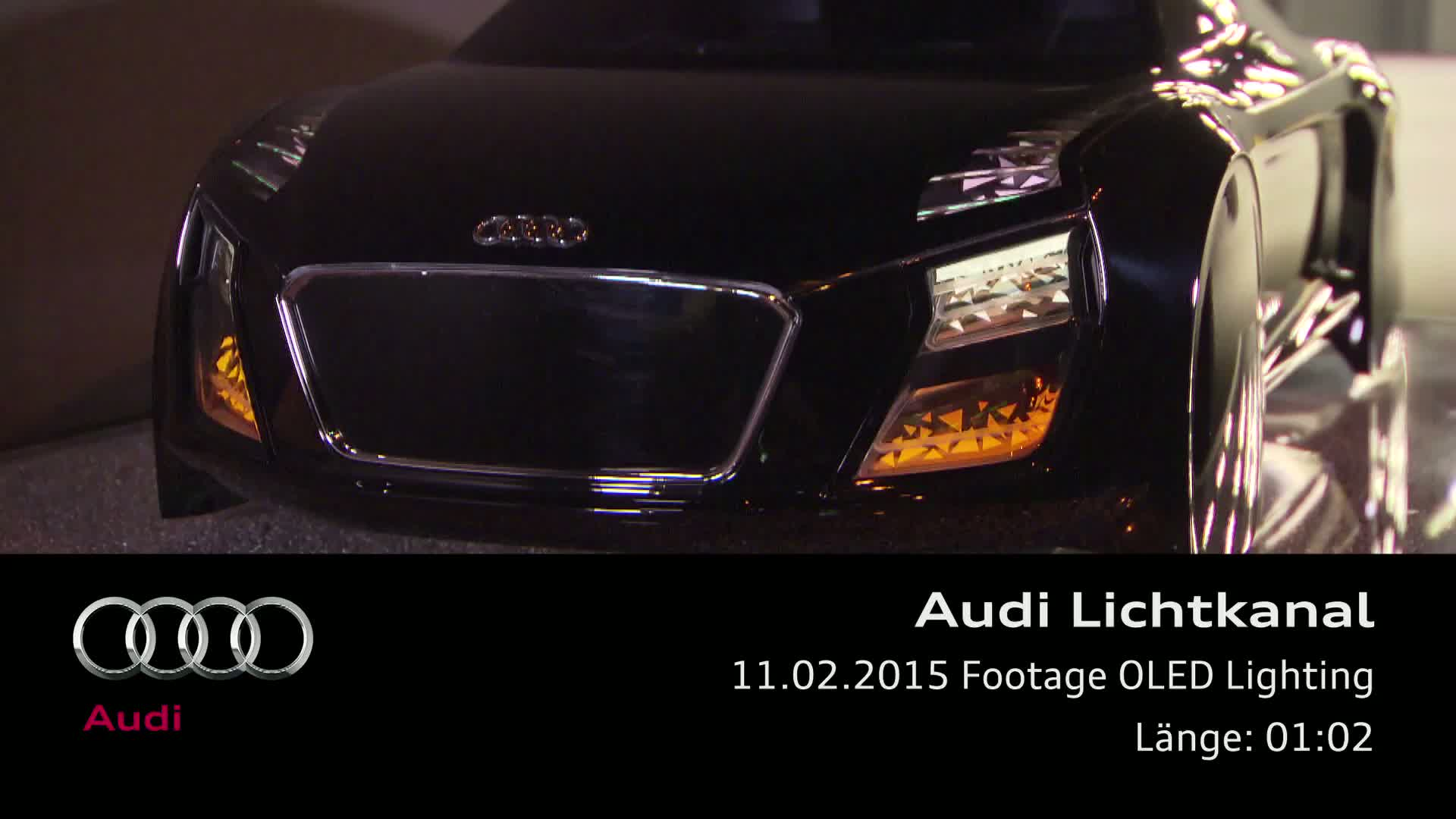 Audi future lab - Footage OLED Lighting