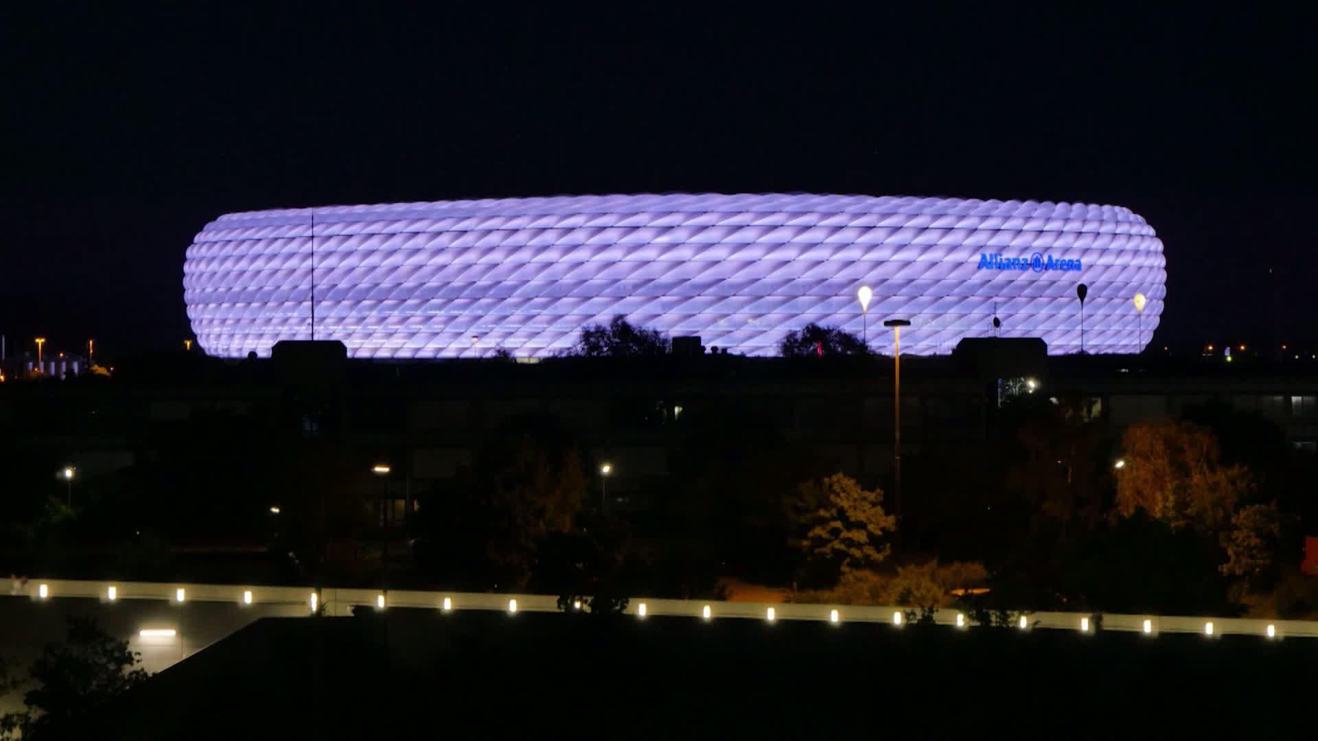 Vorbereitungen zum Audi Cup in München