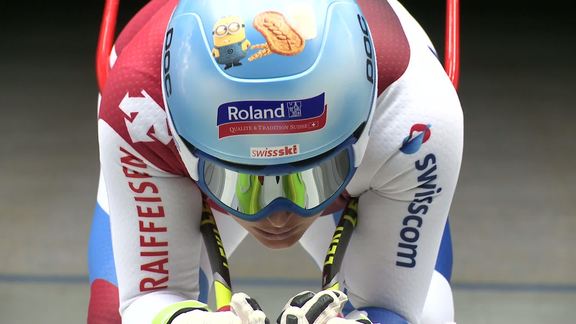 Das Schweizer Ski-Nationalteam im Windkanal der AUDI AG