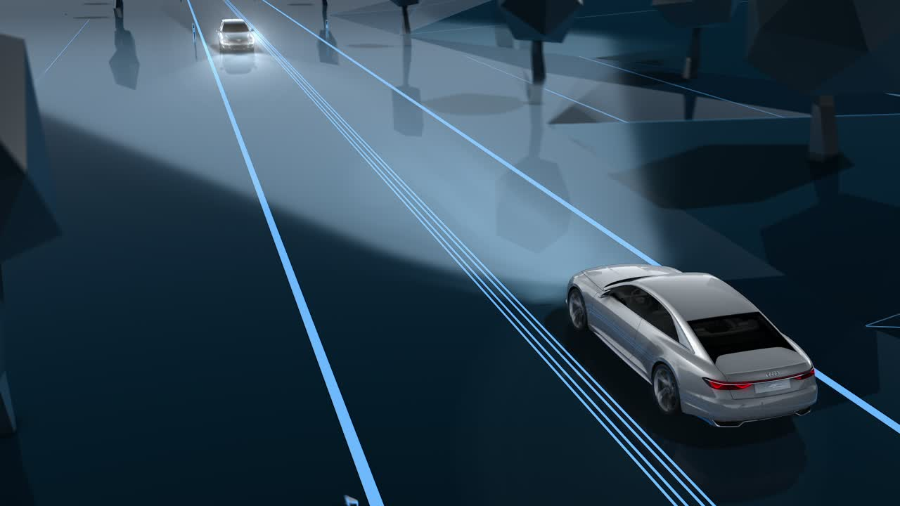 Audi future lab - Lichttechnologie und Design - Animation Matrix Laser