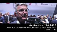 Prof. Rupert Stadler auf der IAA 2015 - Footage