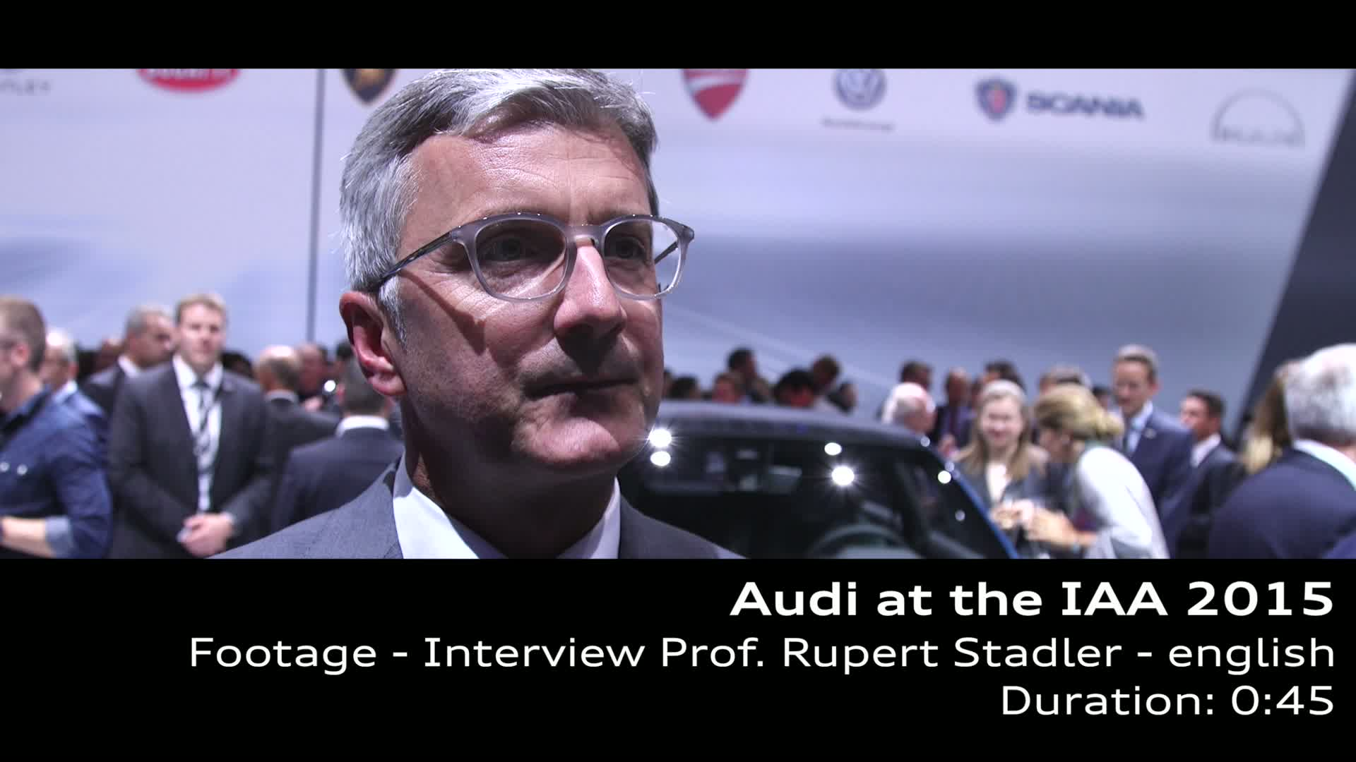 Prof. Rupert Stadler at the IAA 2015 - Footage