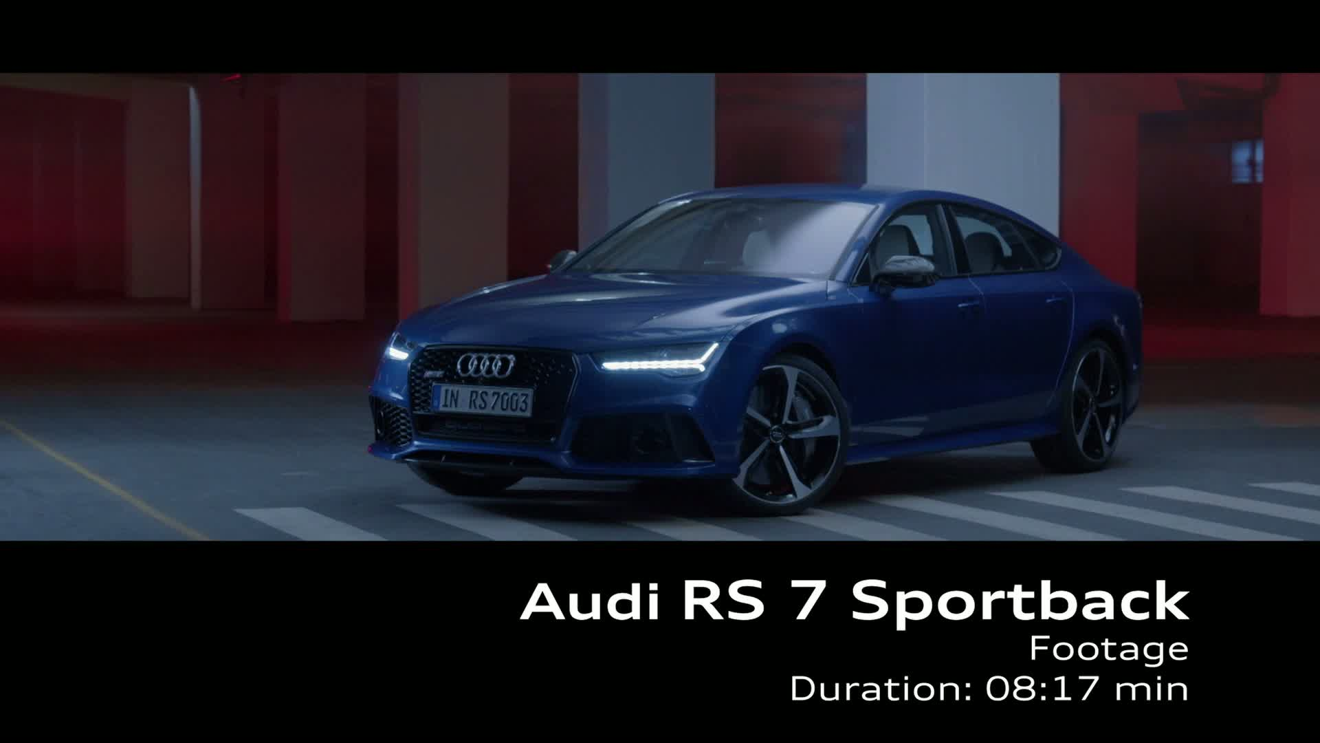 Even more defined: The revised Audi RS 7 Sportback - Footage