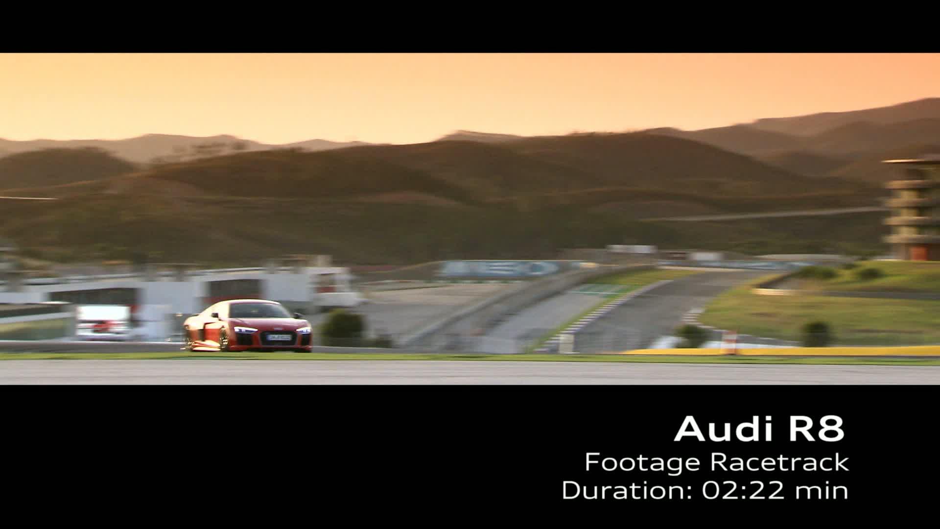 Audi R8 V10 plus - Footage Rennstrecke