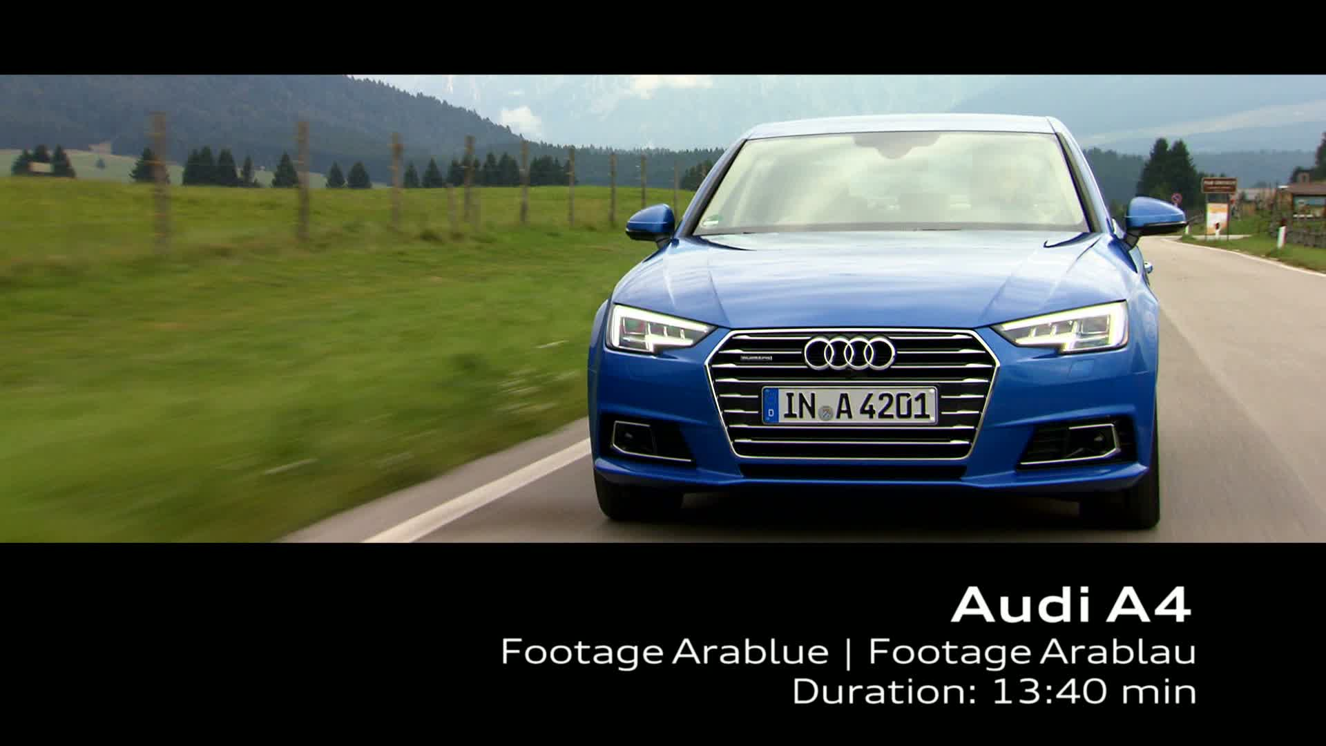 Audi A4 - Footage on Location