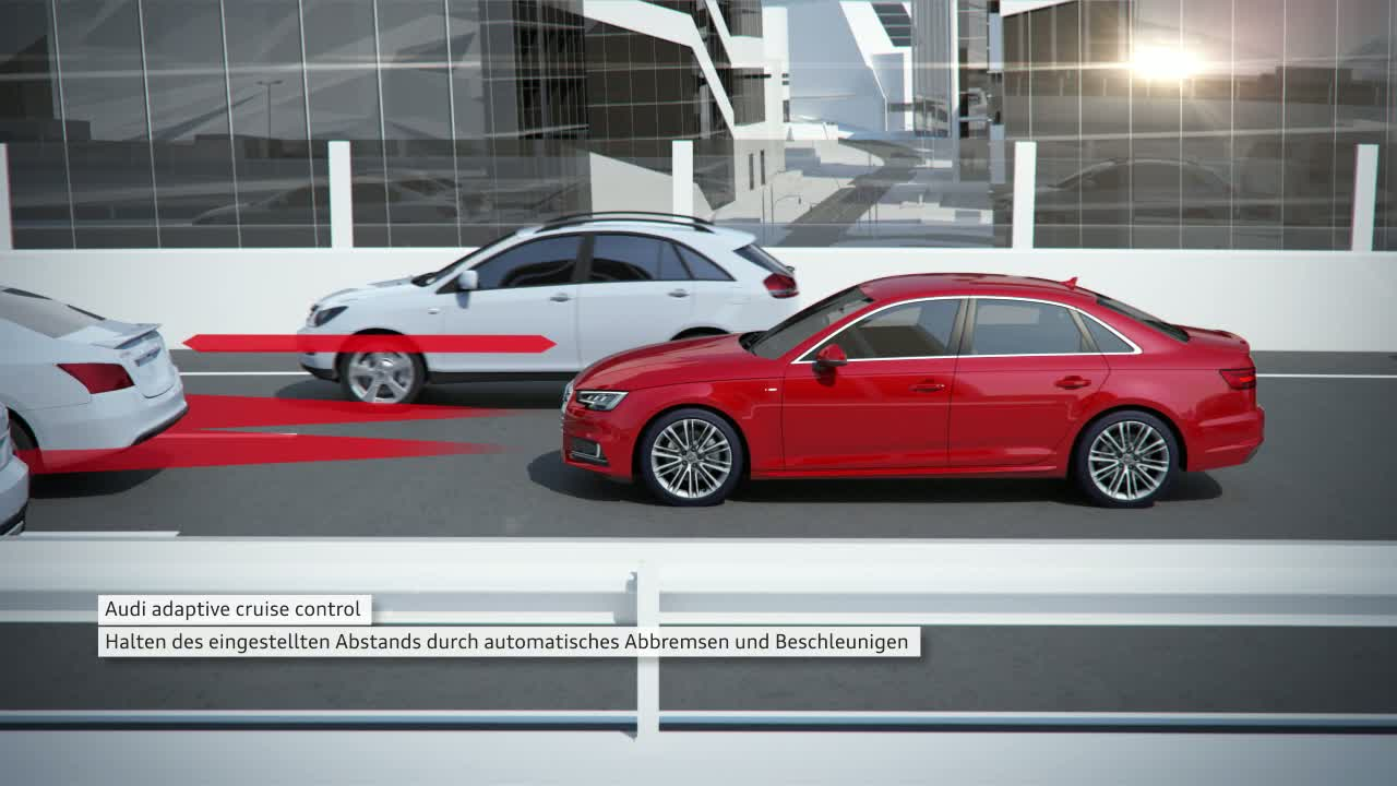 Audi A4 - Animation Stauassistent