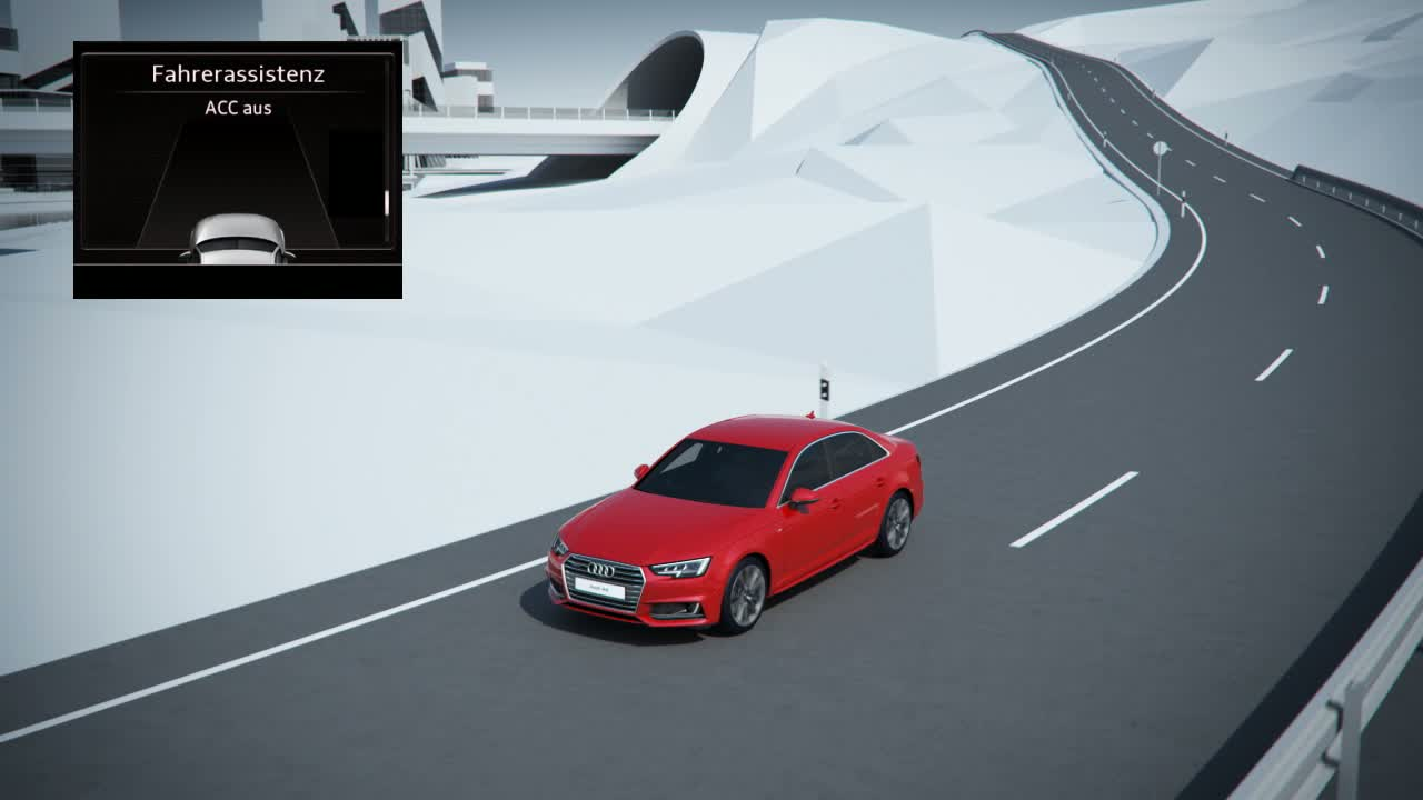 Audi A4 - Animation Prädiktiver Effizienzassistent