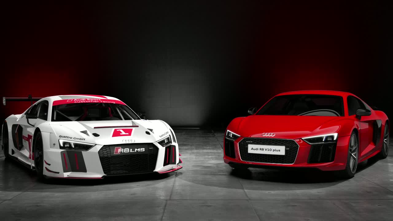 Audi R8 V10 plus und R8 LMS - Animation
