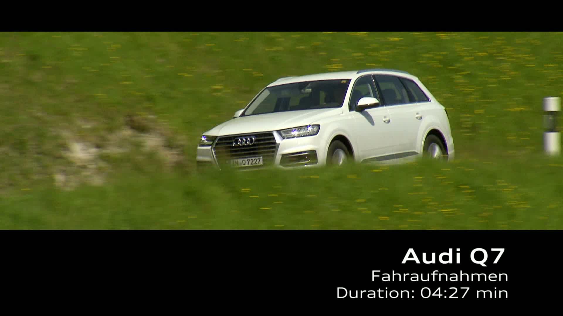 Audi Q7 Fahraufnahmen- Footage