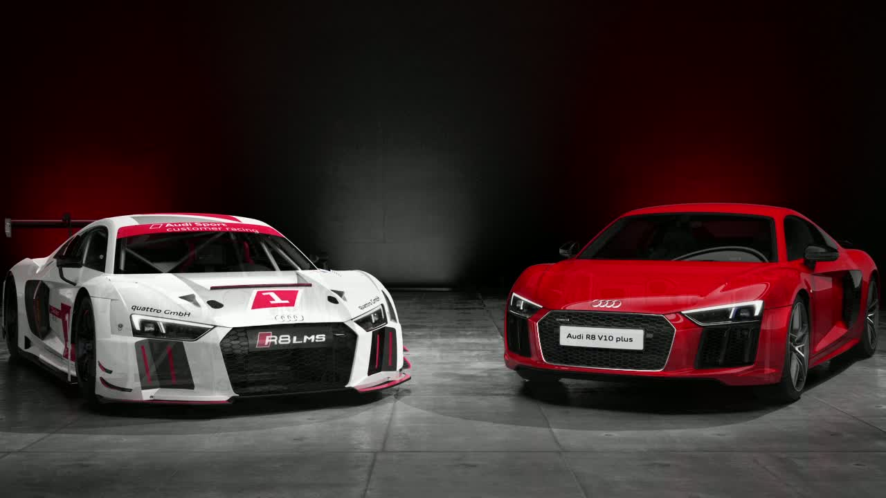 Audi R8 V10 plus and R8 LMS - Animation