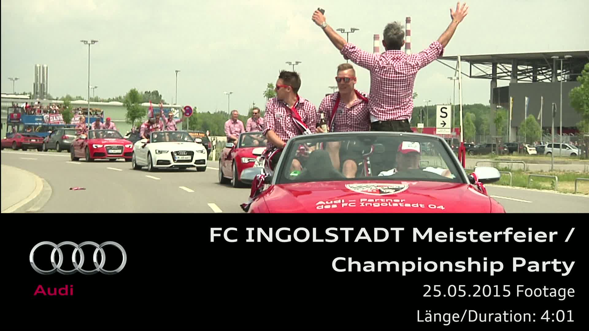 FC Ingolstadt Championship Party - Footage