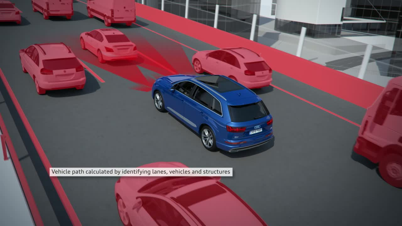 Audi Q7 - Animation traffic jam assistant