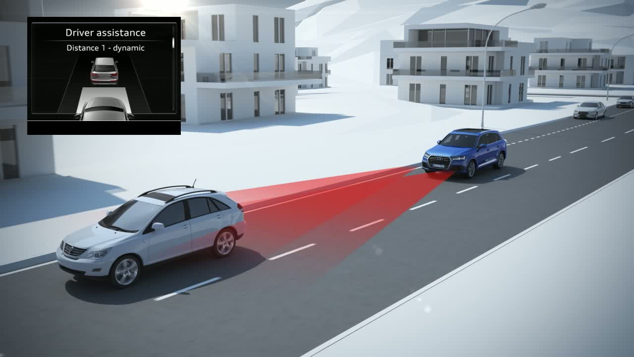 Audi Q7 - Animation predictive efficiency assistant with ACC