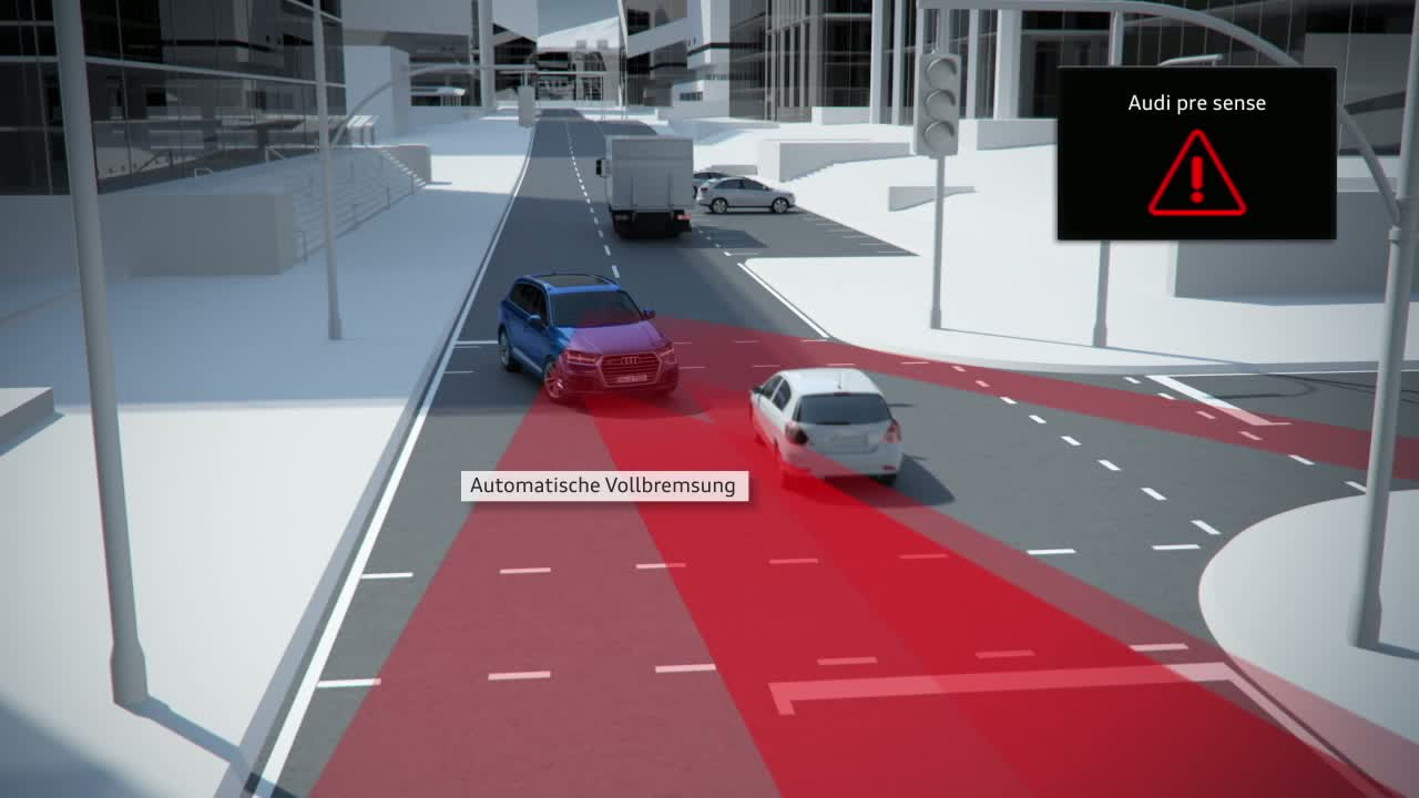 Audi Q7 - Animation Abbiegeassistent