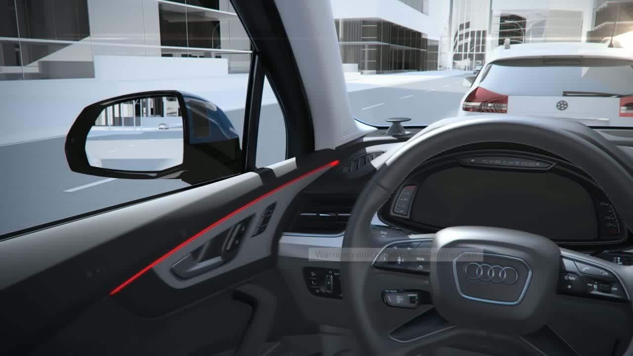 Audi Q7 - Animation Ausstiegwarnung