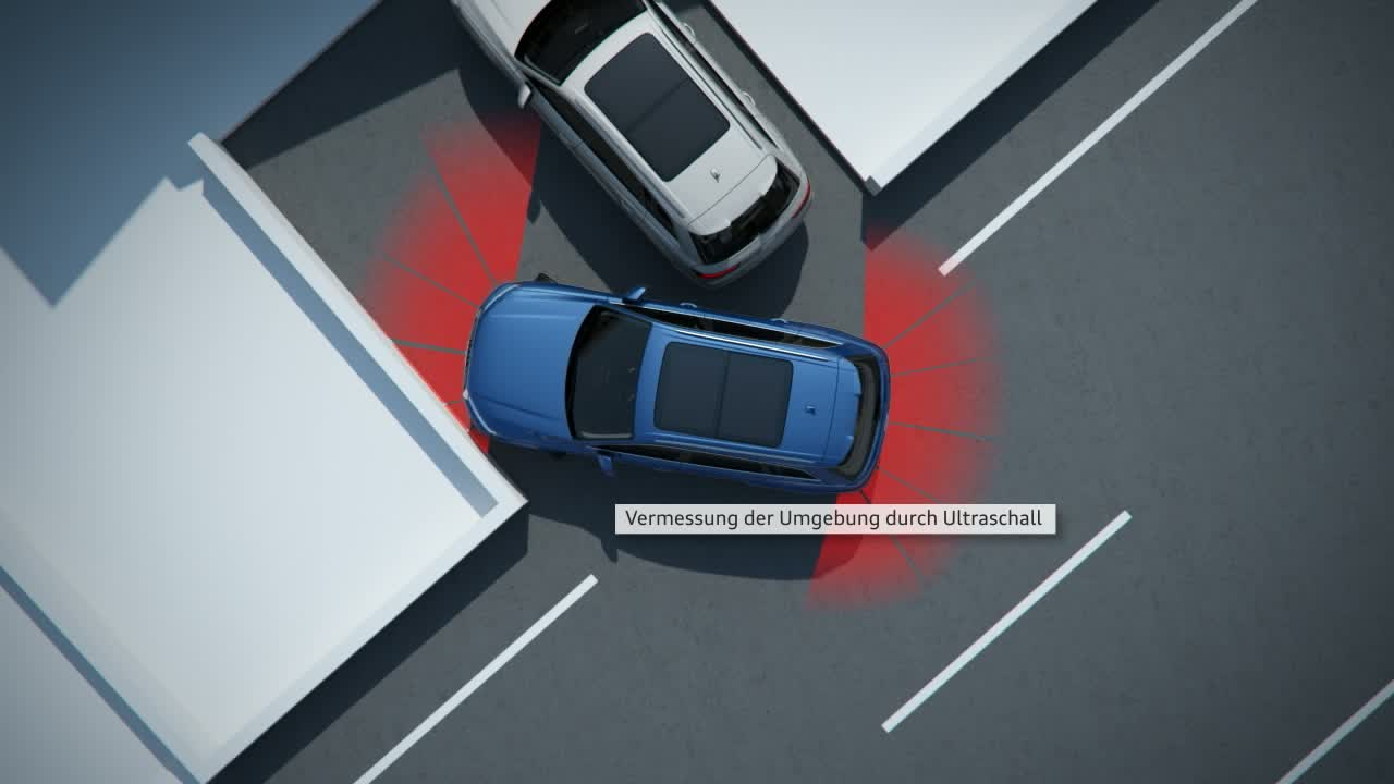 Audi Q7 - Animation Parkassistent