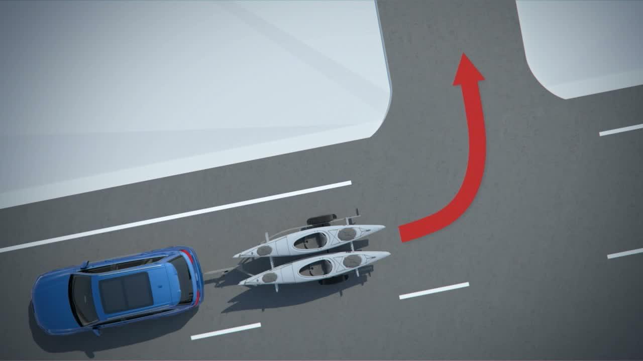 Audi Q7 - Animation Anhängerassistent