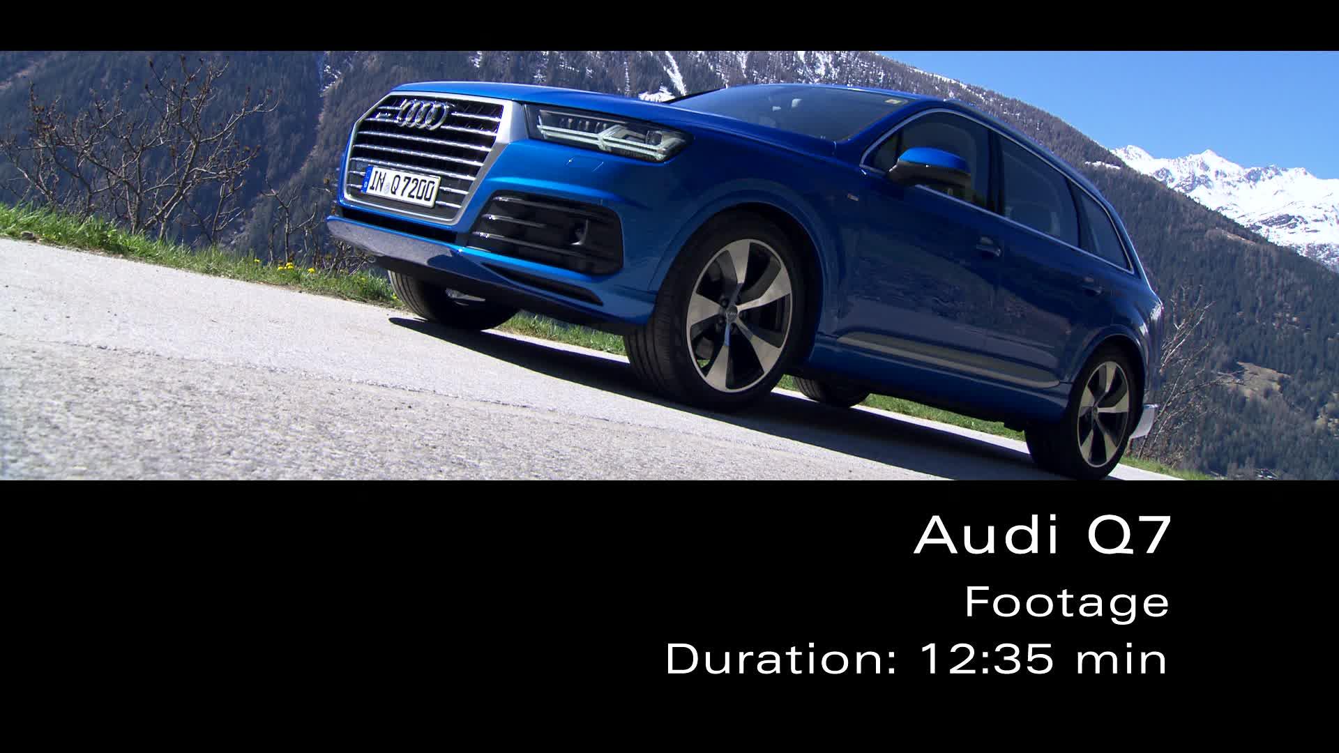 Audi Q7 - Footage Alps