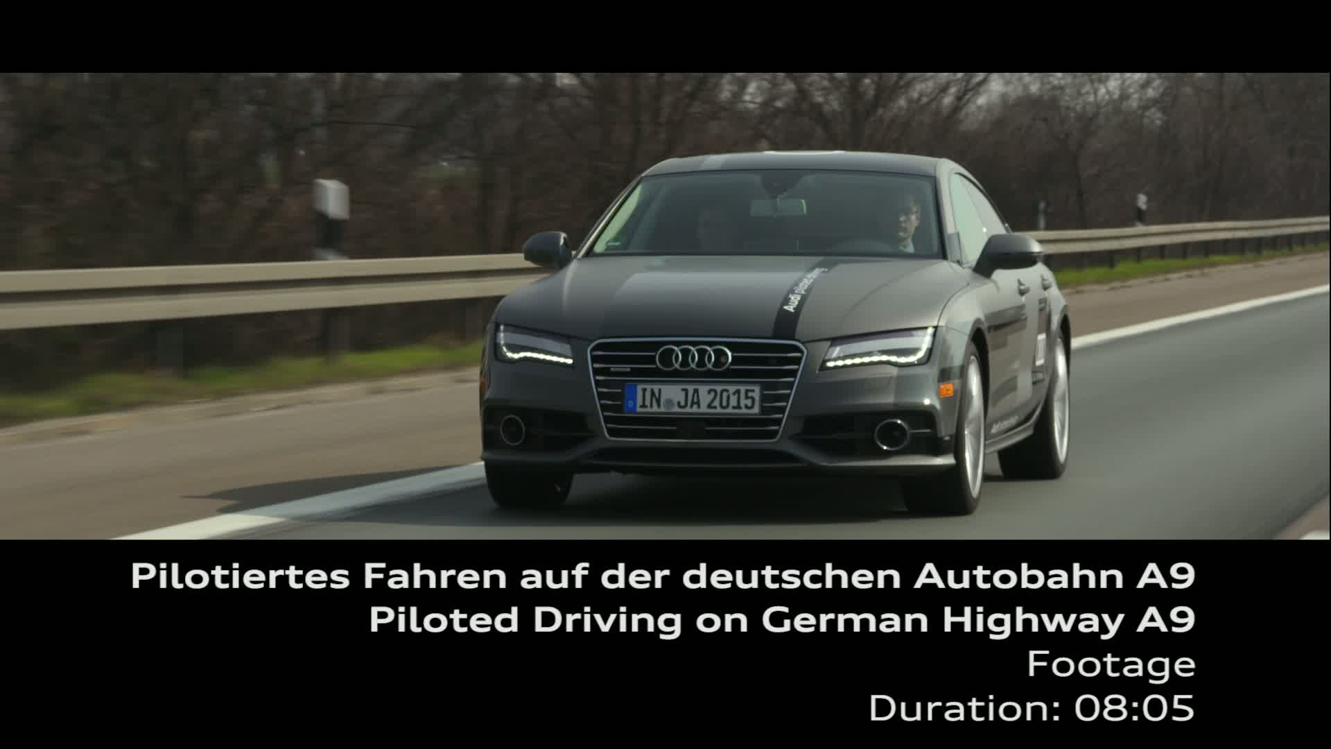 Test drive under realistic conditions on Autobahn A9 - Footage