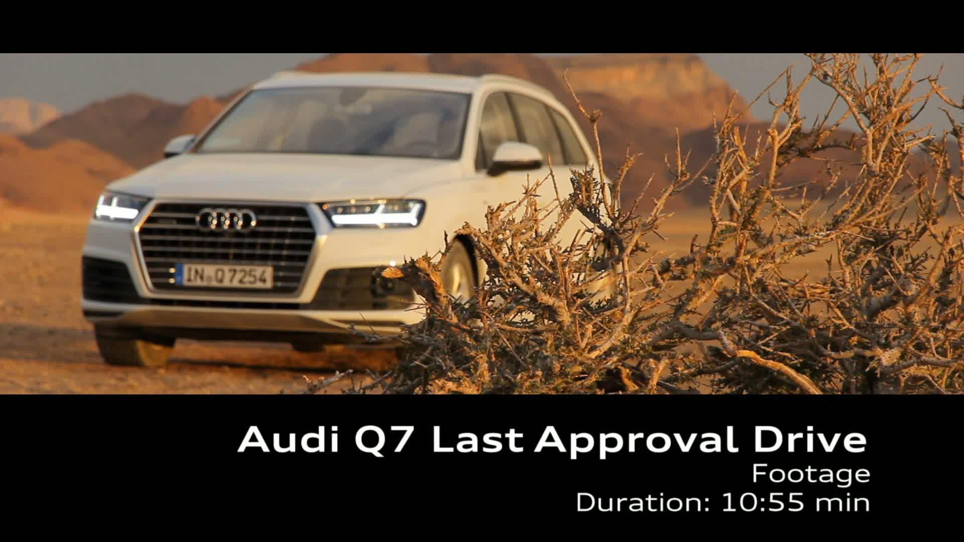 Last Approval Drive Audi Q7 - Footage