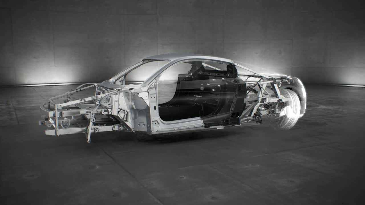 The Audi R8 multimaterial Space Frame - Animation