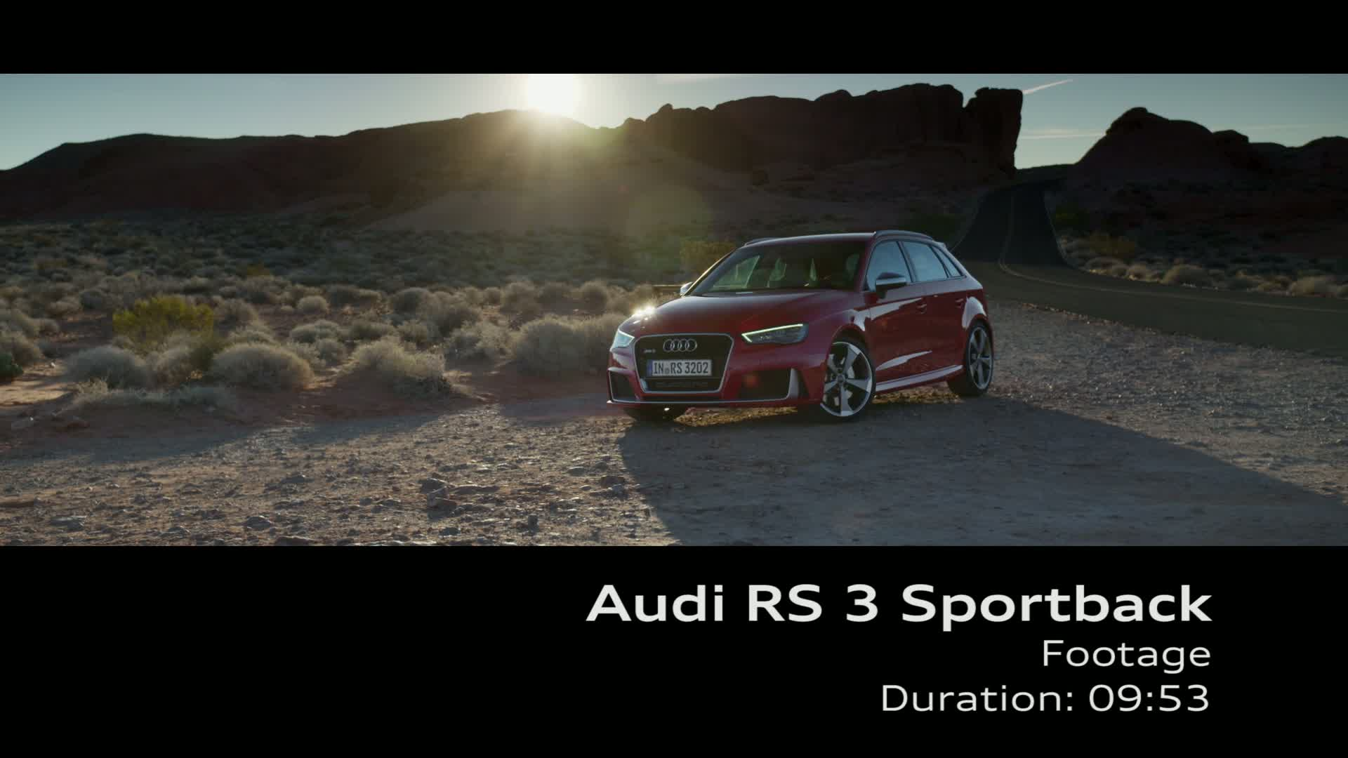 The Audi RS 3 Sportback - Footage desert