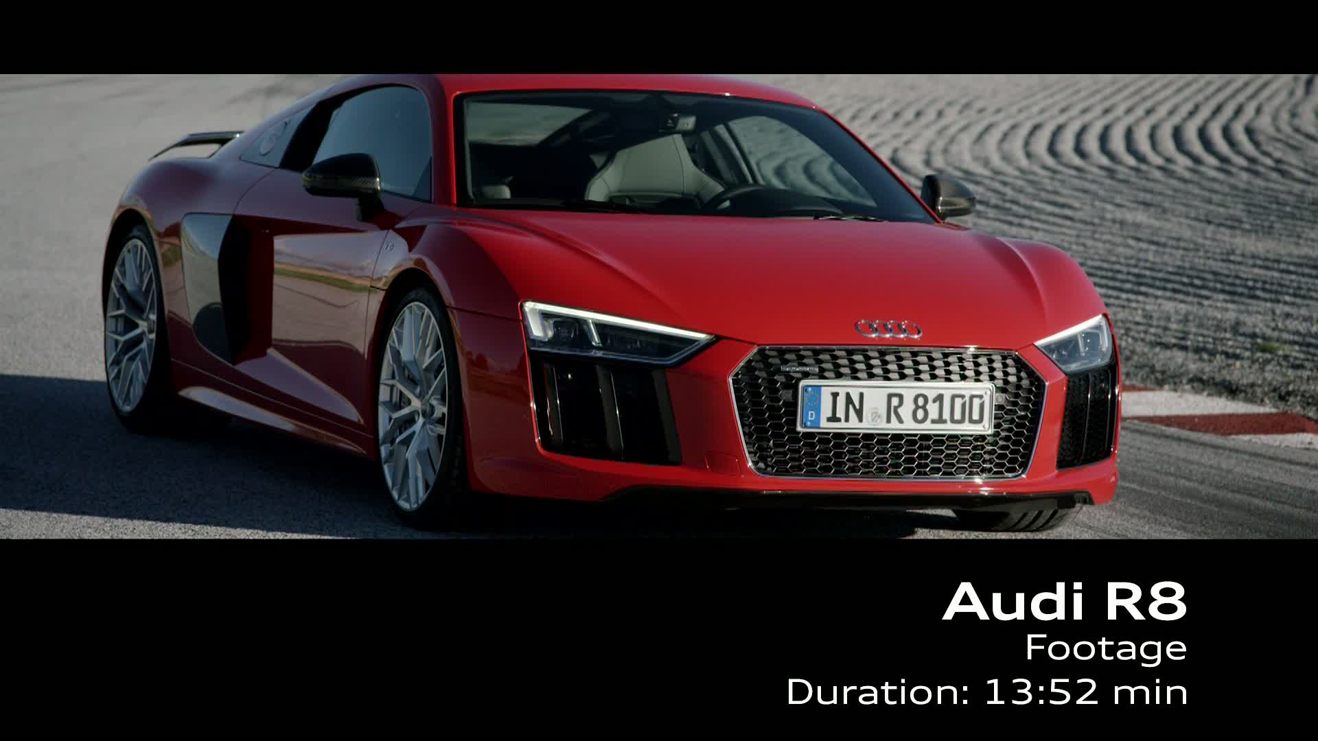 Audi R8 V10 plus - Footage