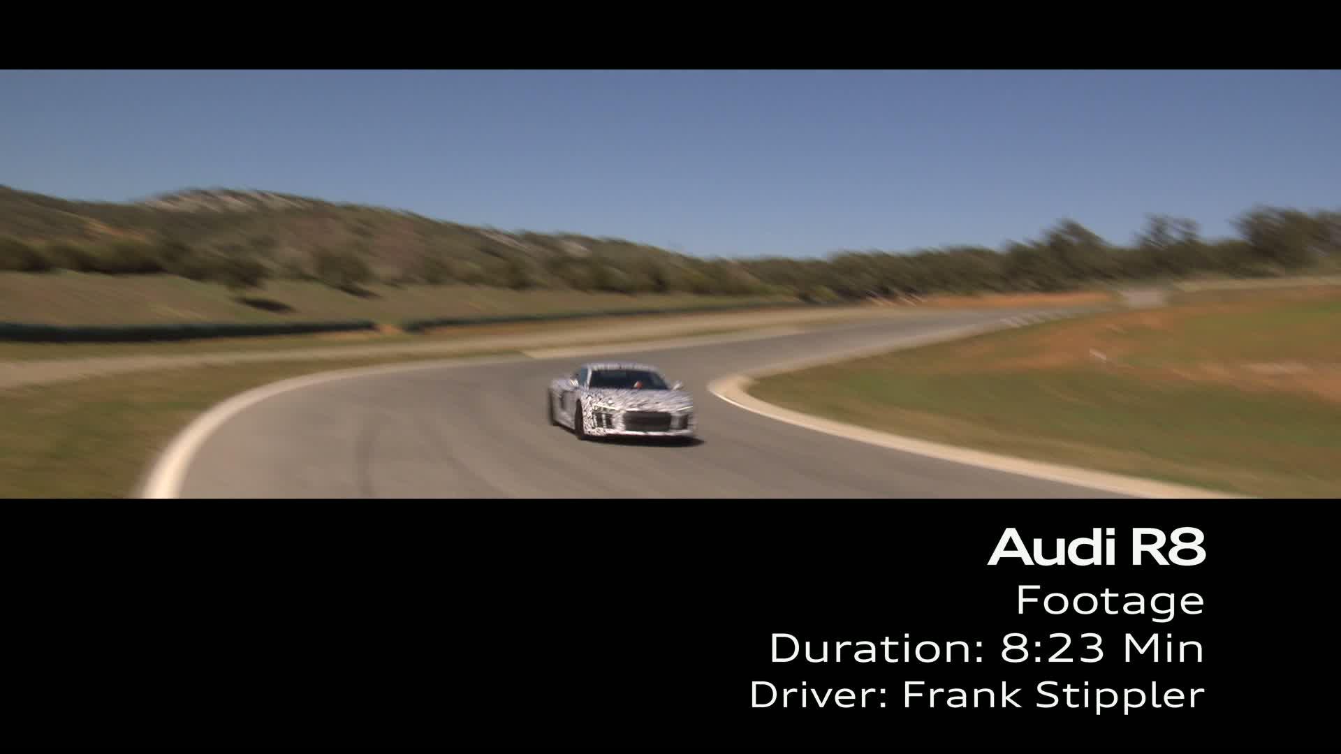 Audi R8 Prototype Test Drive - Footage