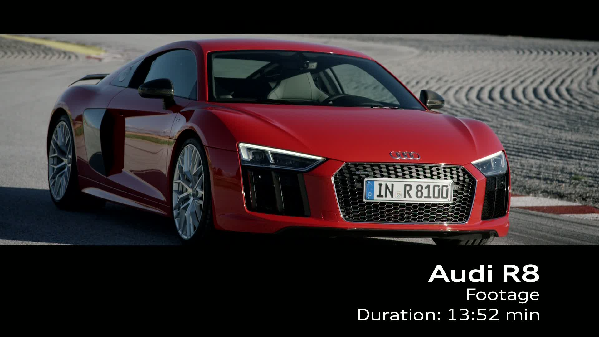 Der Audi R8 V10 plus - Footage