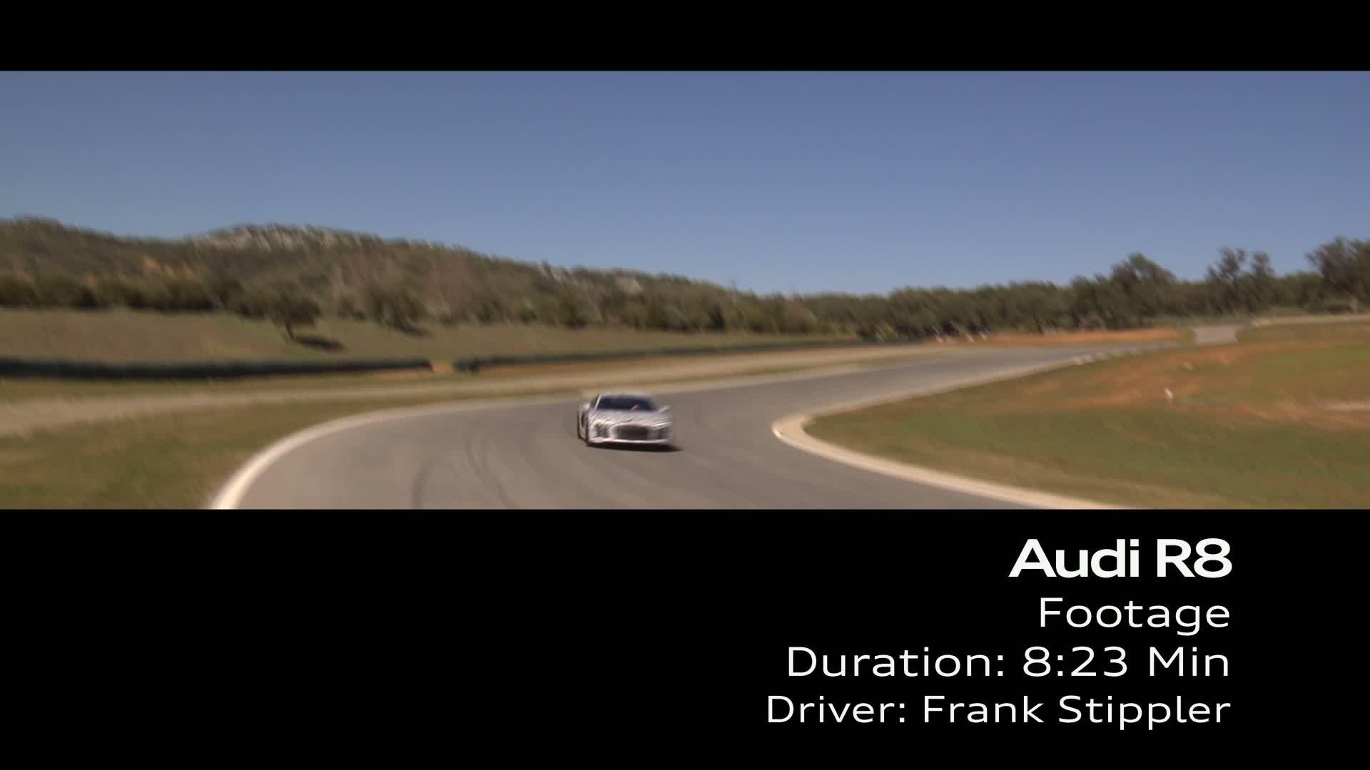 Audi R8 Prototypenfahrt - Footage