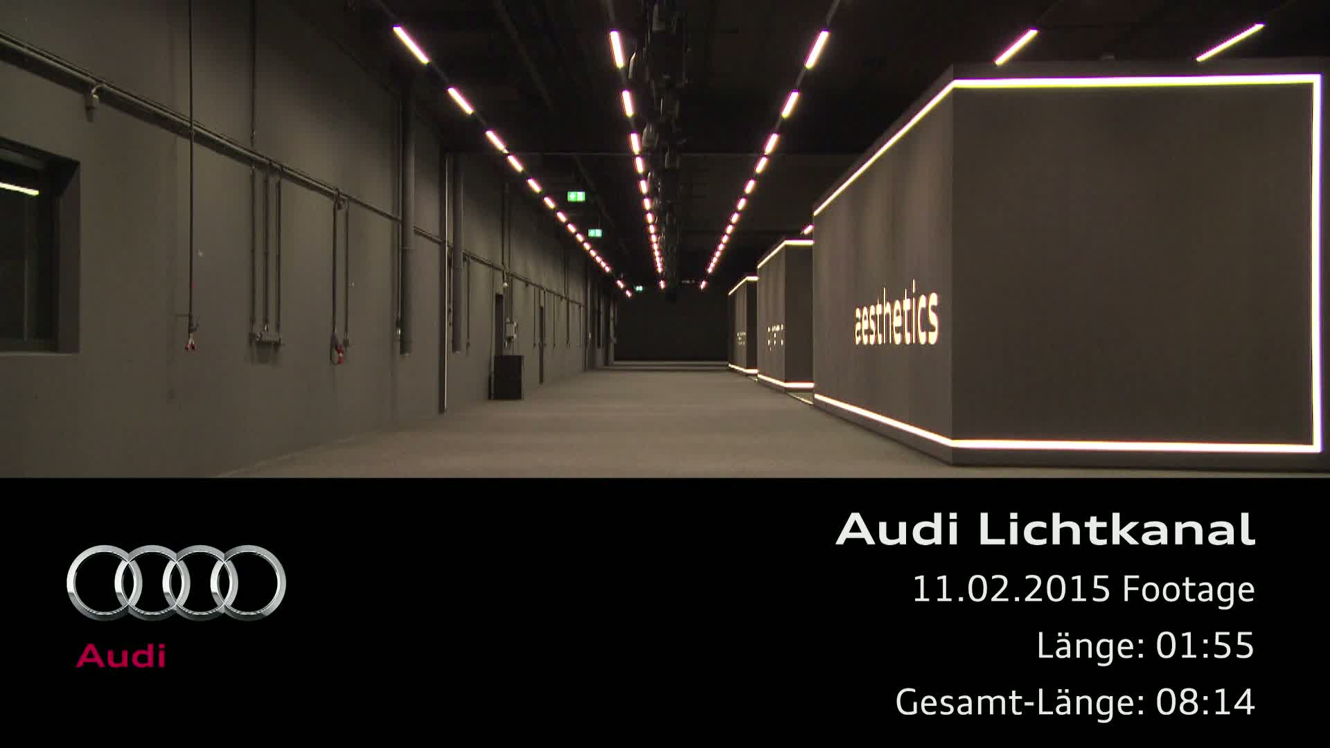 Audi Lichtkanal - Footage