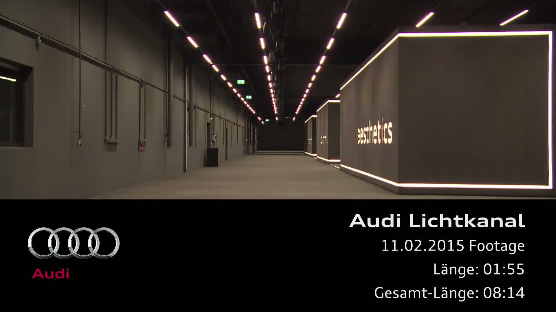 Audi light tunnel - Footage