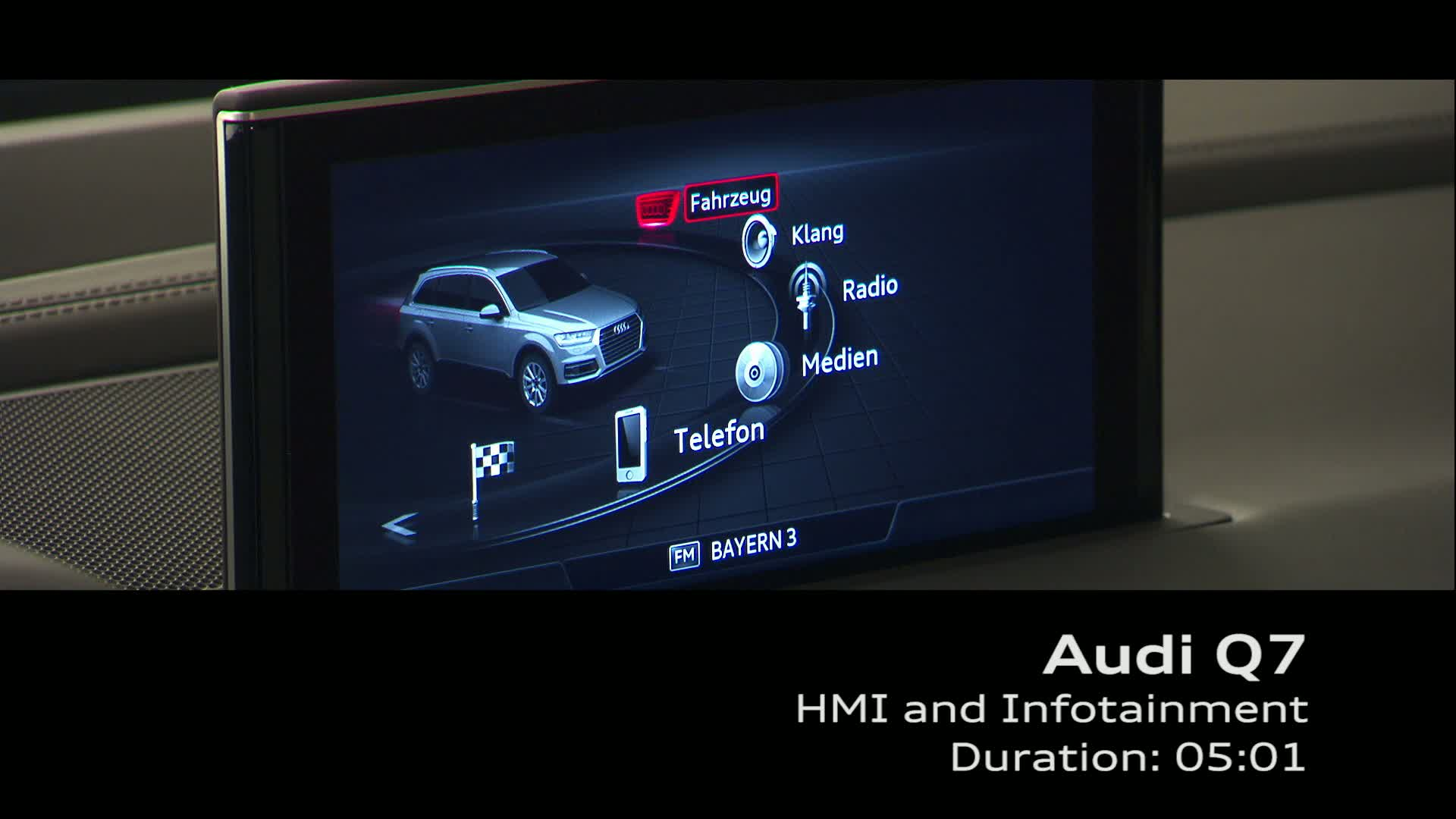 Audi Q7 - Footage HMI and Infotainment