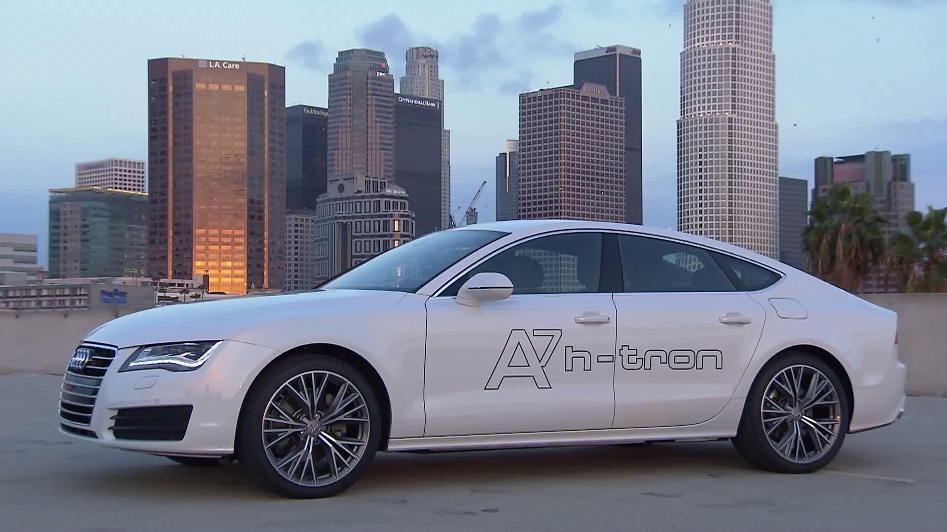 The Audi A7 Sportback h-tron quattro - Footage