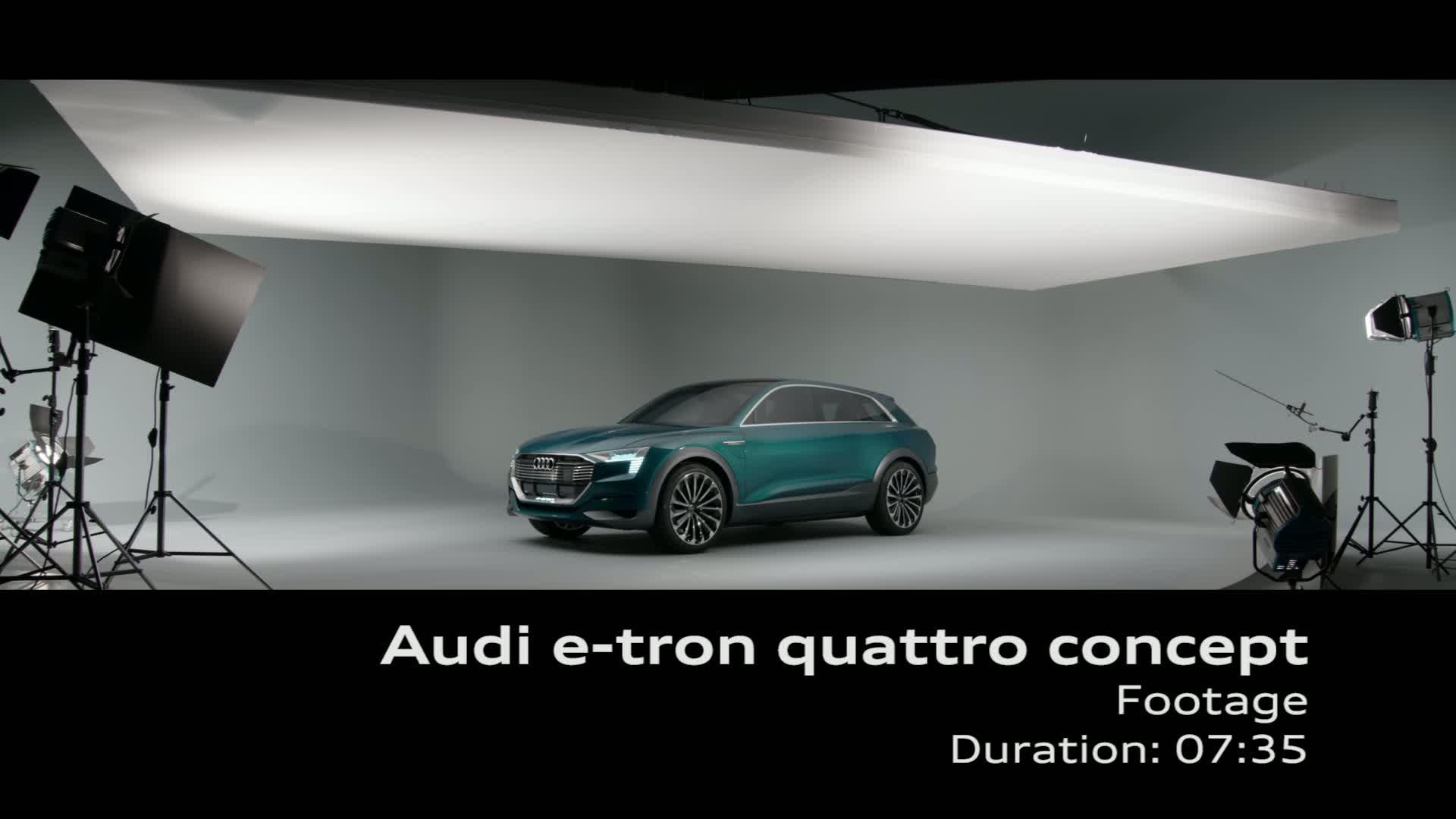 Audi e-tron quattro concept - Footage