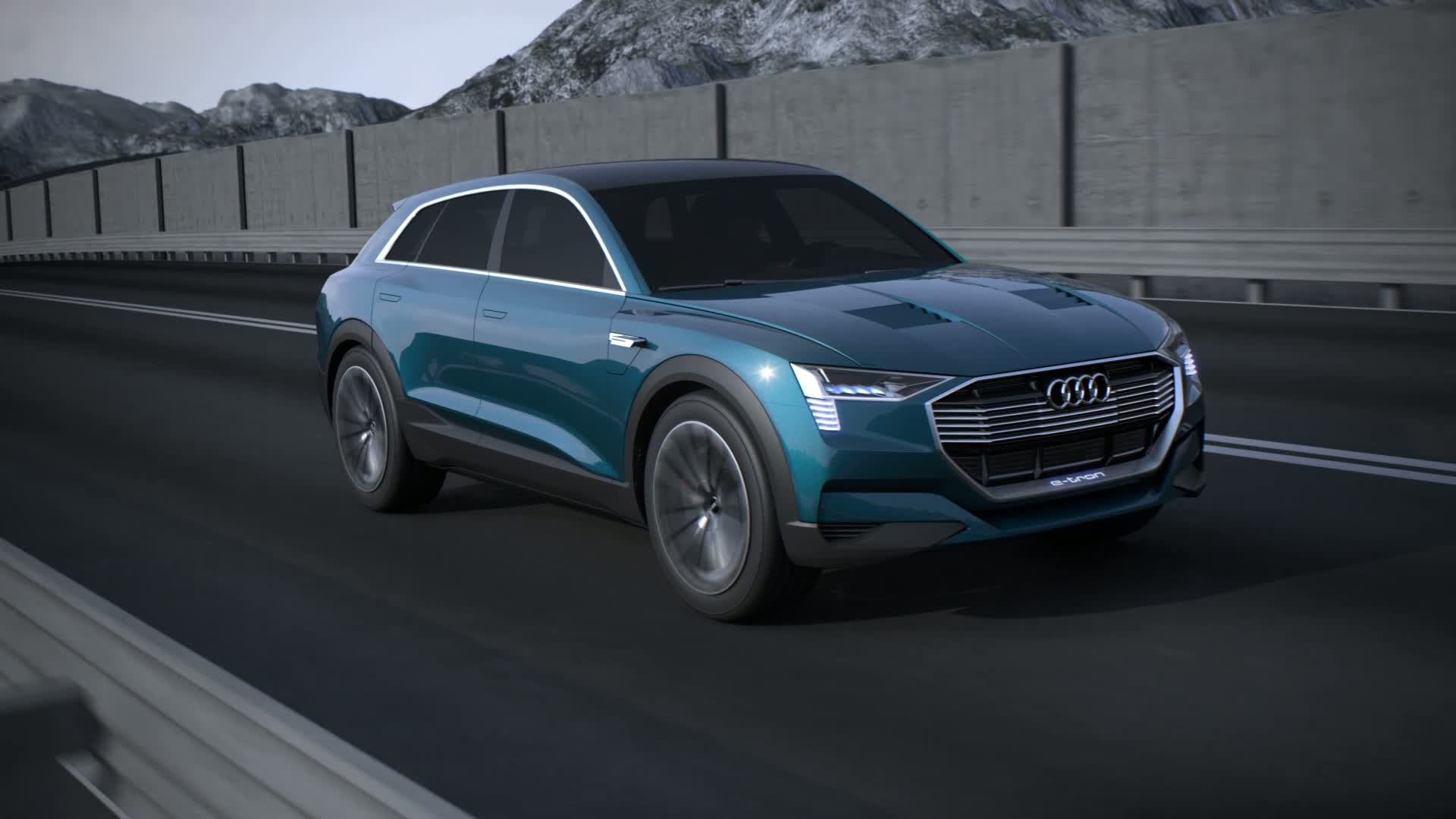 Audi e-tron quattro concept - Animation with AWC